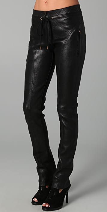 Derek Lam Drawstring Leather Trousers