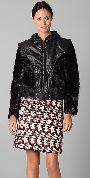 Derek Lam Fur Bomber Jacket