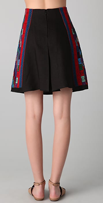 Derek Lam Skirt with Bhutan Threadwork