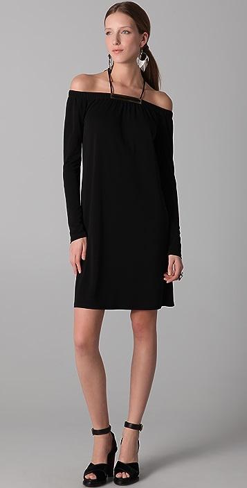 Derek Lam Long Sleeve Halter Dress