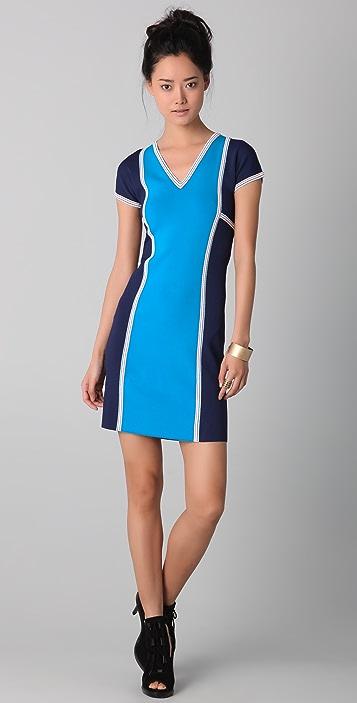 Derek Lam V Neck Scuba Dress