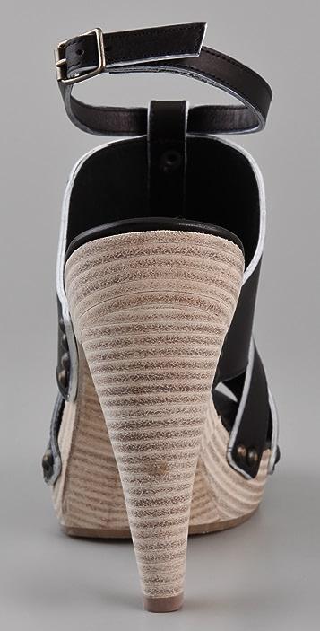 Derek Lam Karisia Woven Platform Sandals