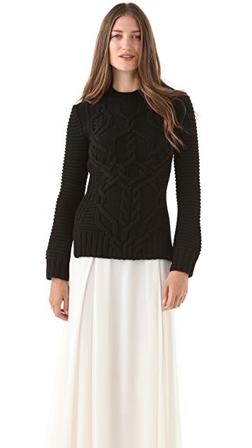 Derek Lam Cable Knit Sweater