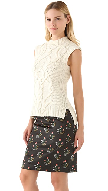 Derek Lam Sleeveless Cable Sweater