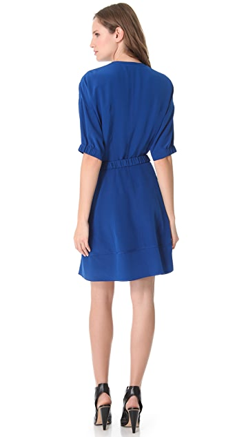 Derek Lam Short Sleeve Belted Dress