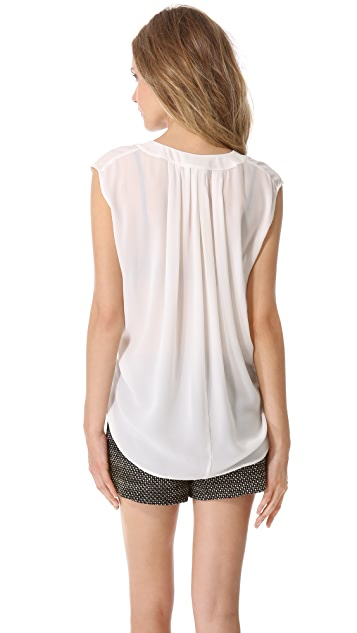 Derek Lam Gathered Knot Blouse