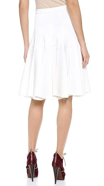 Derek Lam Satin Skirt with Pleats