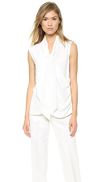 a1dafb308275b Derek Lam Sleeveless Tie Front Blouse
