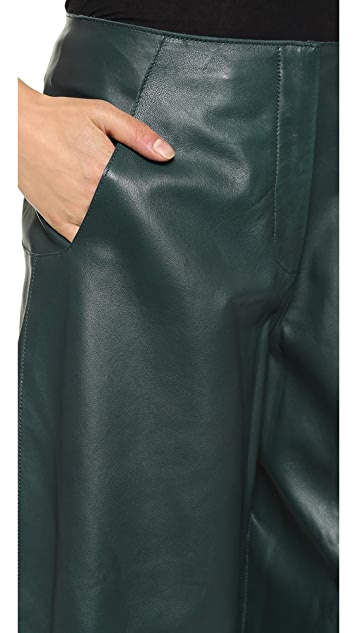 Derek Lam Cropped Leather Pants