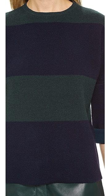 Derek Lam Short Sleeve Combo Sweater