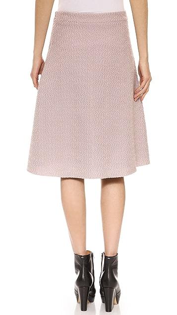 Derek Lam Napped Boucle Skirt