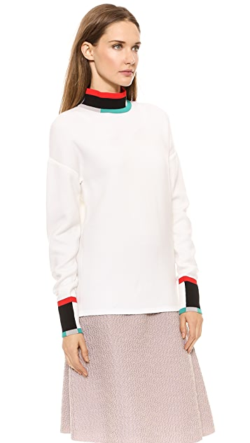 Derek Lam Colorblock Turtleneck Sweater