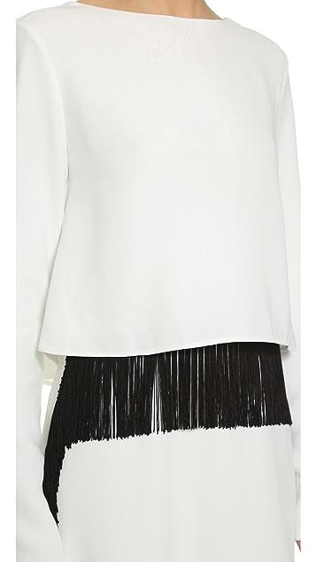 Derek Lam Fringe Layer Gown