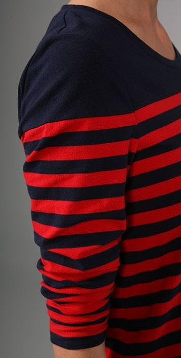 DKNY Striped T-Shirt Dress
