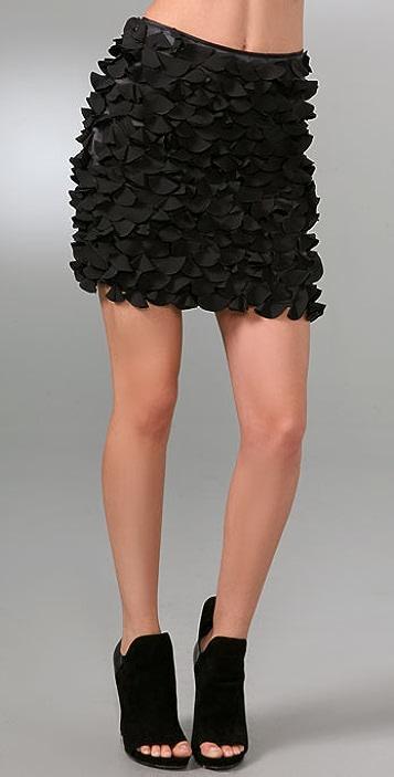 DKNY Rose Petal Miniskirt