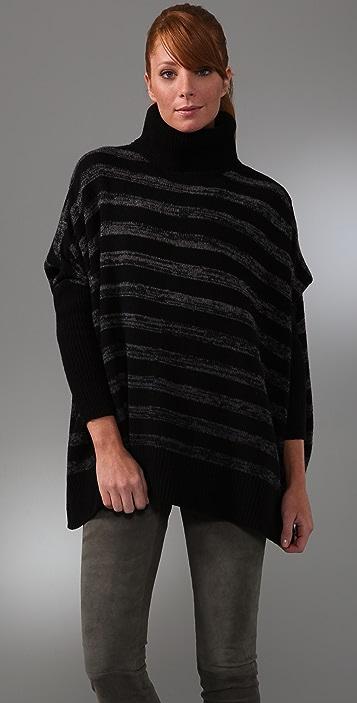 DKNY pure Long Sleeve Striped Sweater