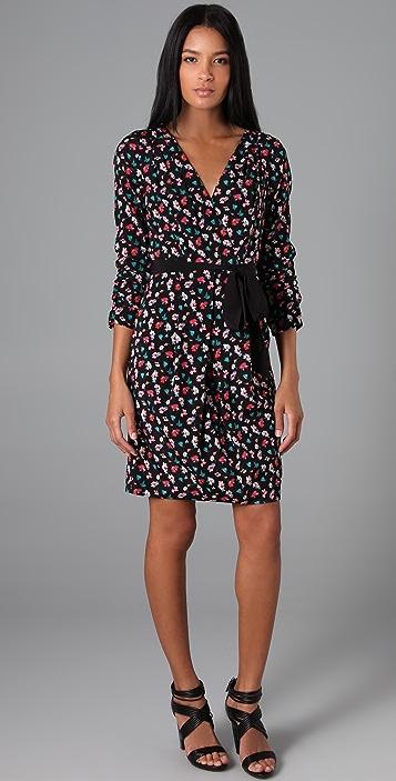 DKNY Floral Wrap Dress