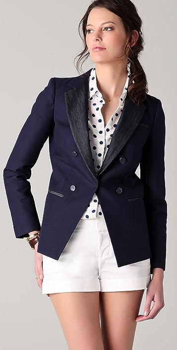 DKNY Mixed Media Jacket
