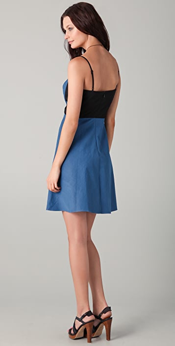 DKNY Contrast Sweetheart Dress