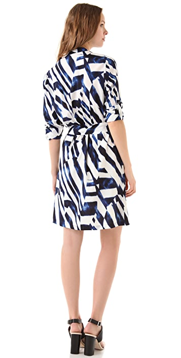 DKNY 3/4 Sleeve Shirtdress