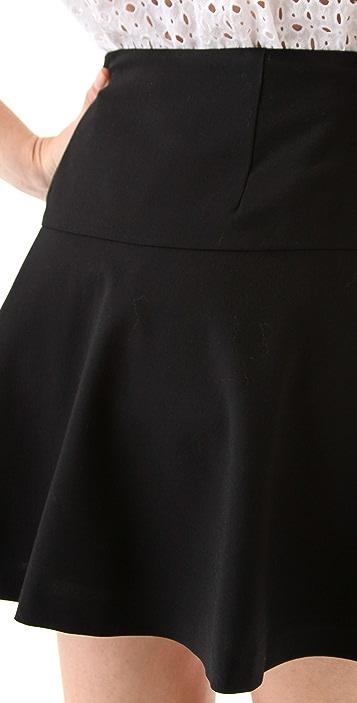 DKNY Ruffle Hem Miniskirt