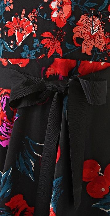 DKNY 3/4 Sleeve Floral Dress