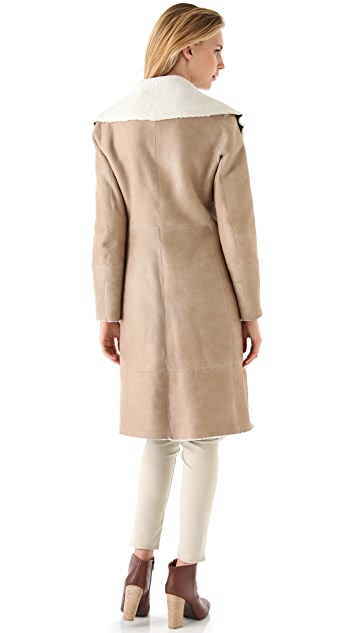 DKNY Pure DKNY Shearling Coat