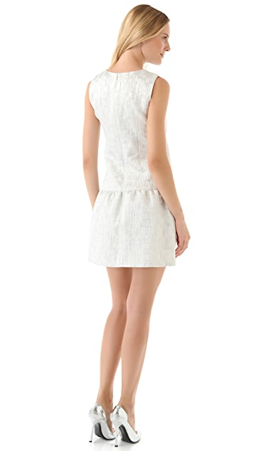 DKNY Drop Waist Sleeveless Dress