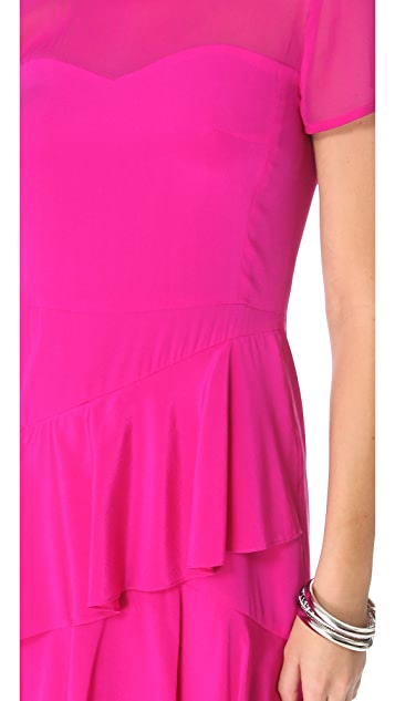 DKNY Sweetheart Neckline Dress