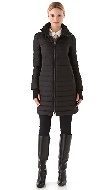 DKNY Puffer Coat with Ponte Inserts