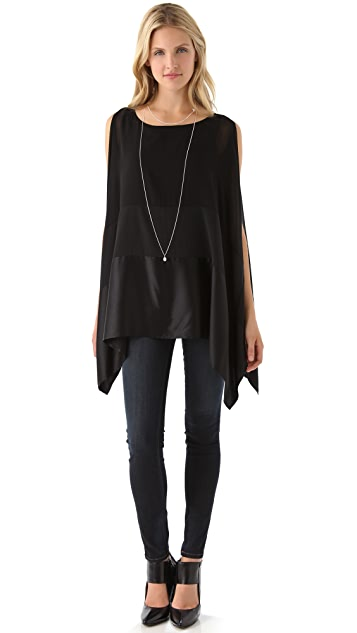 DKNY Cold Shoulder Poncho