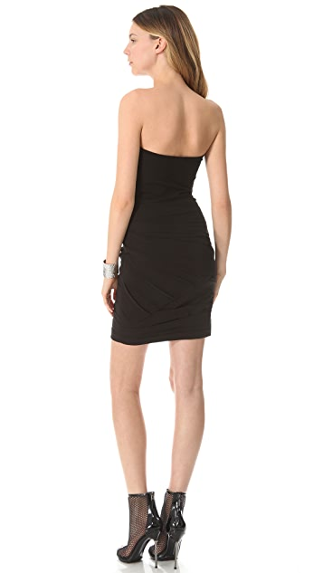 DKNY Strapless Dress with Ruching
