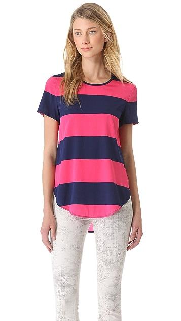DKNY Shirttail Blouse