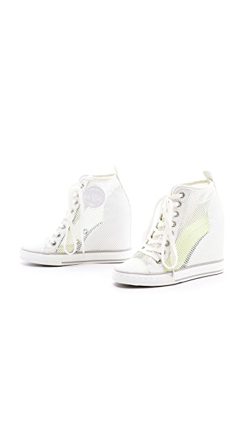 DKNY Grommet Wedge Sneakers