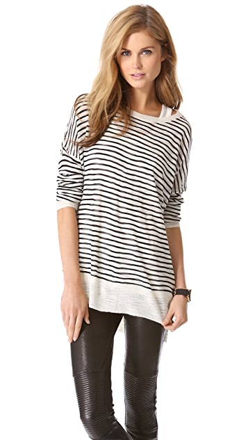 DKNY Pure DKNY Airy Slub Sweater