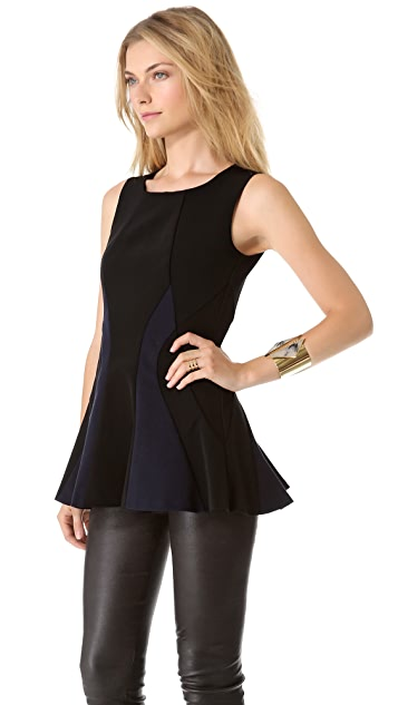 DKNY Sleeveless Tunic with Peplum