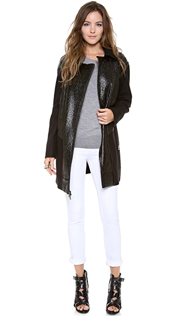 DKNY Asymmetrical Zip Front Jacket