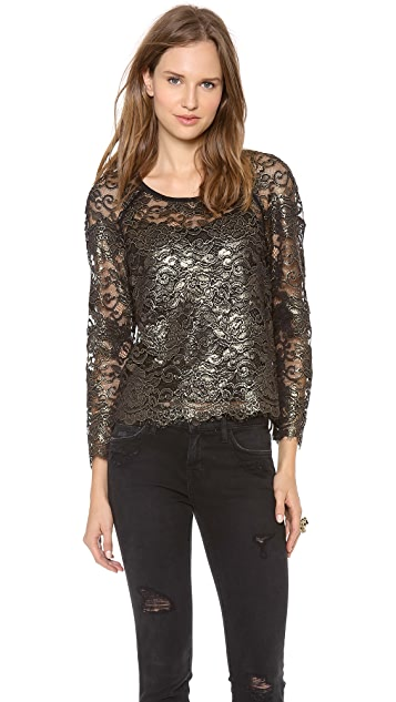 DKNY Scalloped Edge Blouse