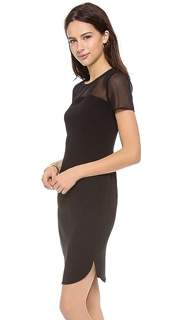 DKNY Mesh Panel Dress