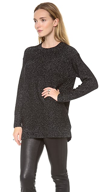 DKNY Long Sleeve Crew Neck Pullover
