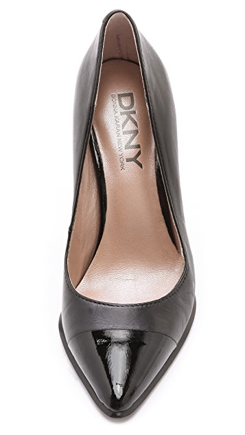 DKNY Shay Pointy Cap Toe Pumps