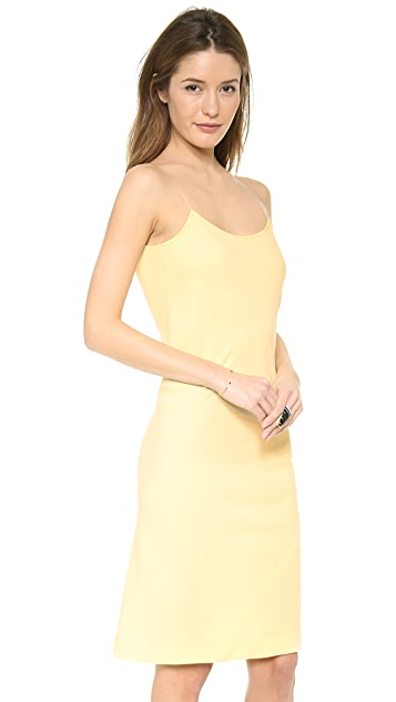 DKNY Illusion Dress with V Back