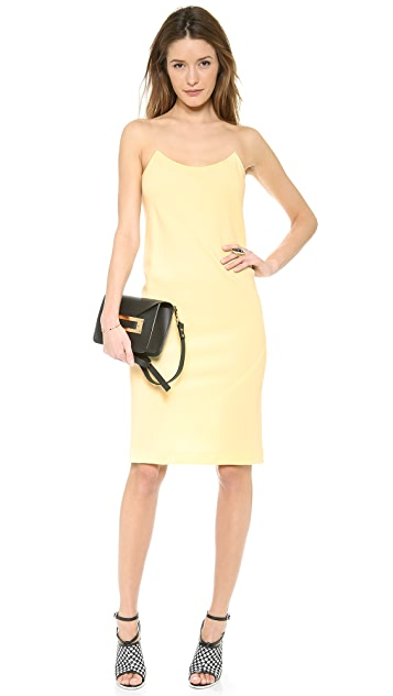 DKNY Illusion Dress with V Back
