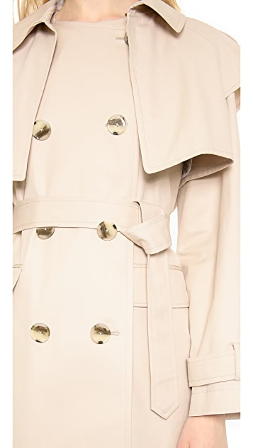 DKNY Long Sleeve Trench Coat