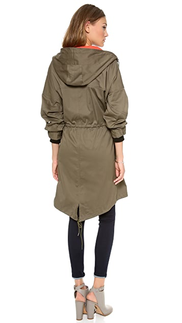 DKNY Long Sleeve Zip Anorak