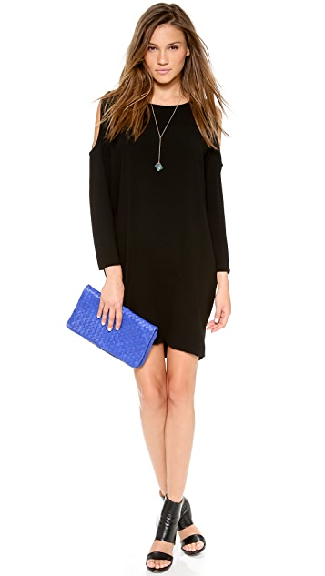 DKNY Bracelet Sleeve Cold Shoulder Dress