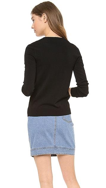 DKNY Long Sleeve V Neck Cardigan