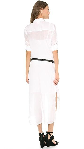 DKNY Pure DKNY Long Sleeve Shirtdress