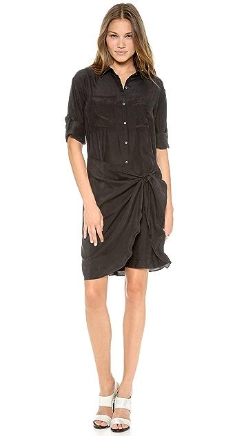 DKNY Sarong Button Thru Shirtdress