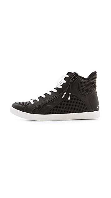 DKNY Brielle Perforated Sneakers